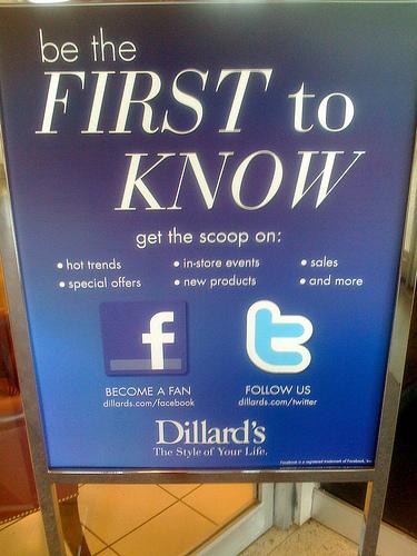 Retail social media signage