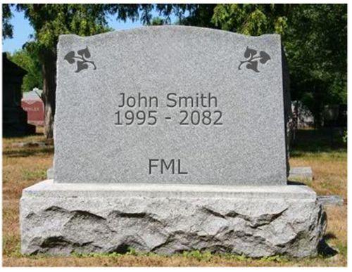 FML tombstone