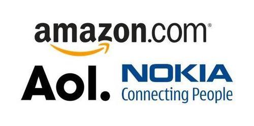 Amazon_aol_nokia_logos